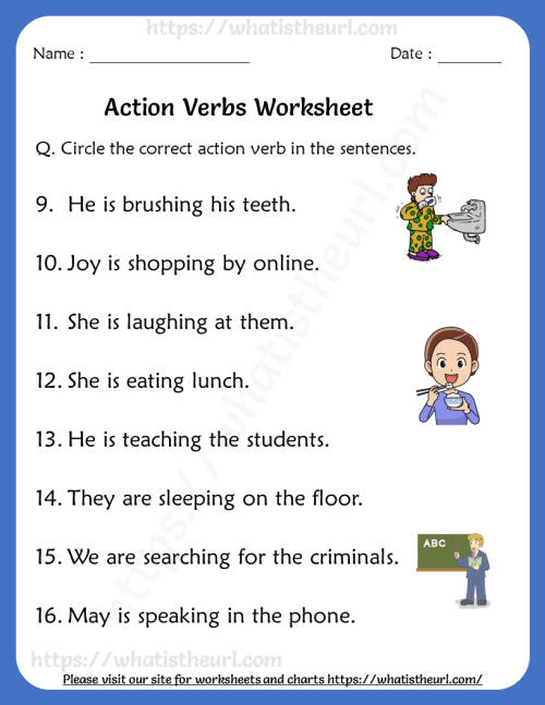 small resolution of action-verbs-worksheets-for-grade-1-rel-1-2 - Your Home Teacher