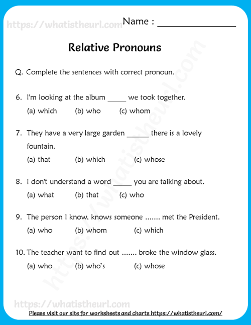 small resolution of relative-pronouns-worksheets - Your Home Teacher