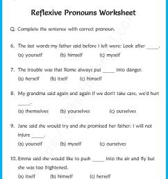 Reflexive Pronouns Worksheet for Grade 6-3 - Your Home Teacher [ 1056 x 816 Pixel ]
