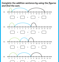 addition-sentence-using-number-line-worksheets-5 - Your Home Teacher [ 1056 x 816 Pixel ]