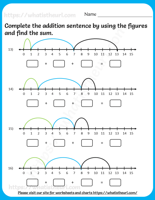 small resolution of addition-sentence-using-number-line-worksheets-5 - Your Home Teacher