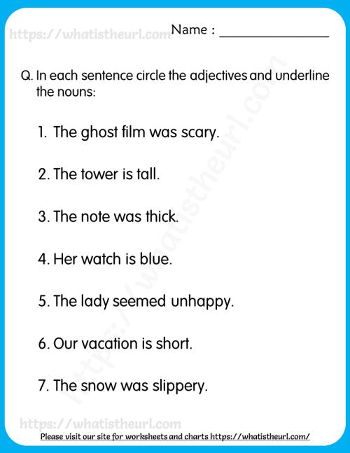 small resolution of Adjective Worksheet For Grade 1 – Belajar
