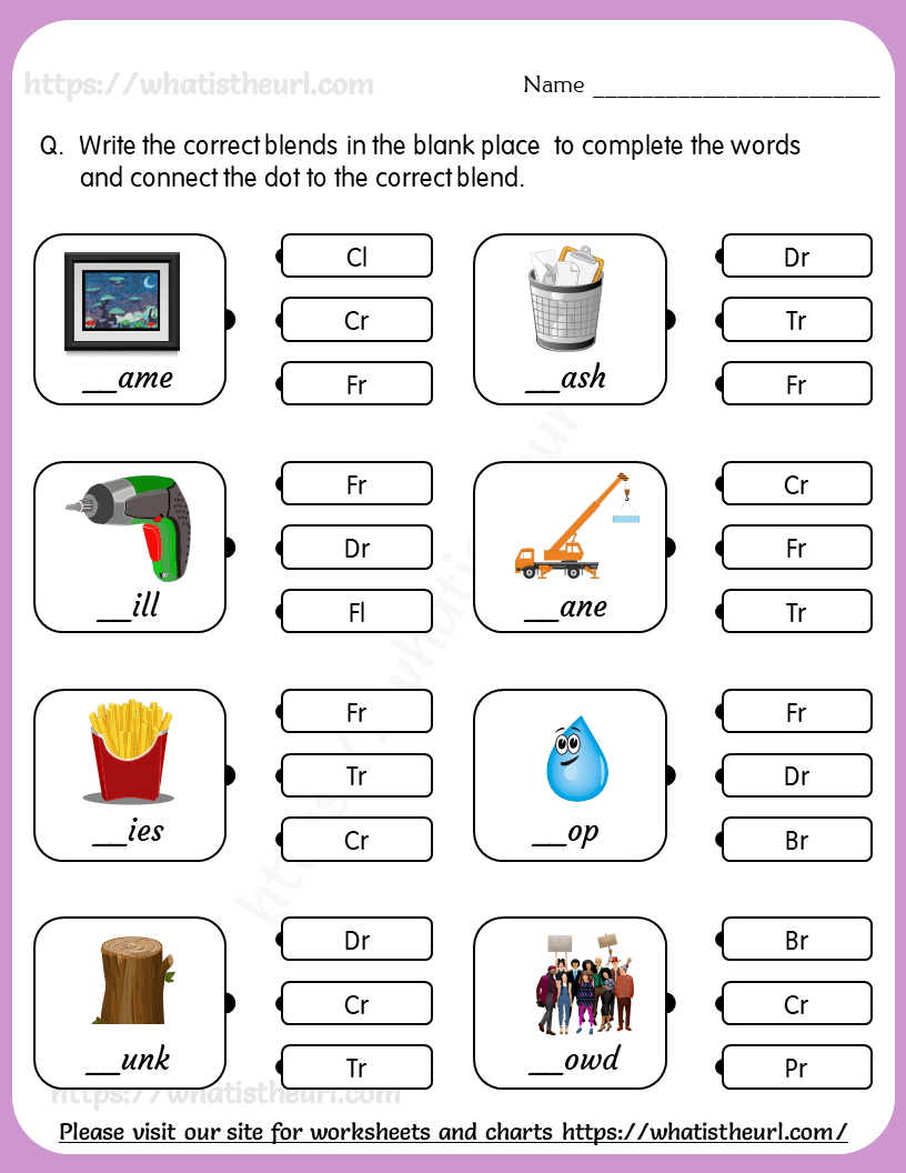 hight resolution of blend-words-matching-worksheet-3 - Your Home Teacher