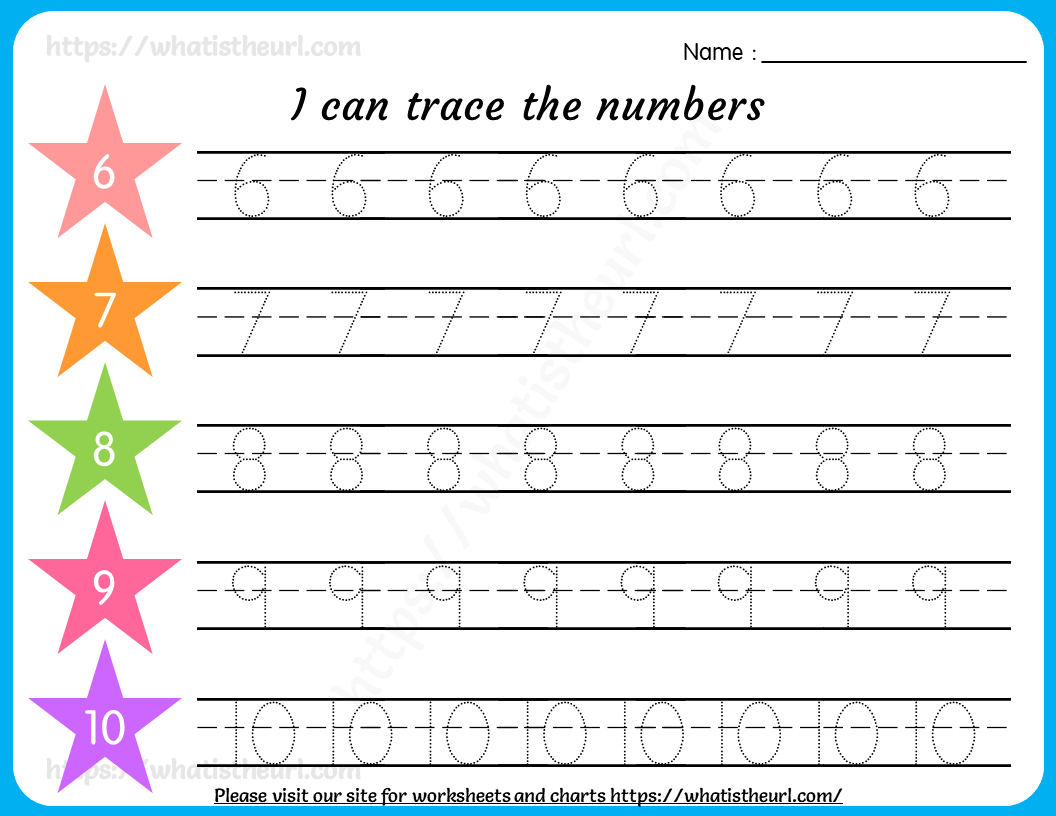 hight resolution of tracing-numbers-worksheet-3 - Your Home Teacher