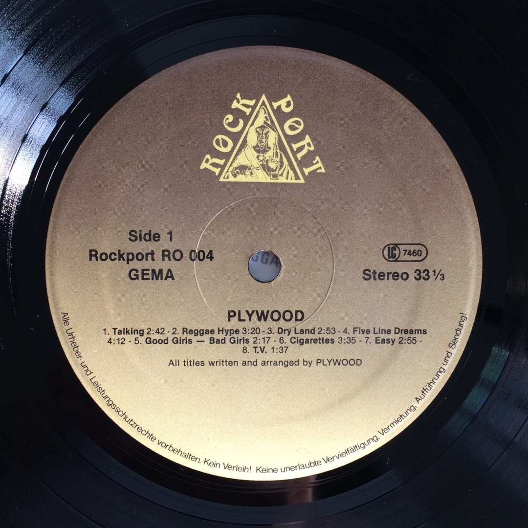Plywood ‎– Plywood 1981 Rockport Records ‎– RO 004