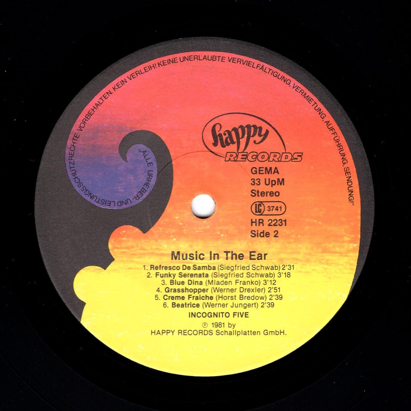 Incognito Five – Music In The Ear 1981 Happy Records HR 2231