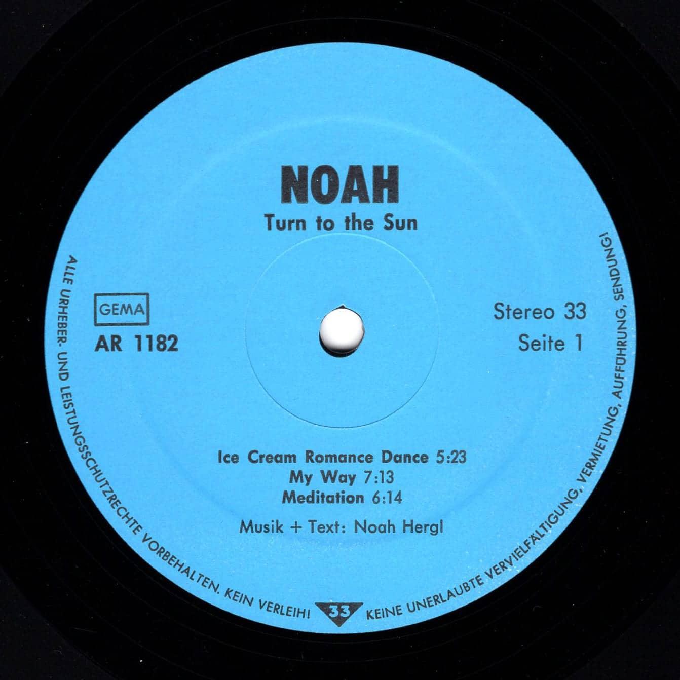 NOAH - Turn to the Sun –  AR 1182 Germany 1982