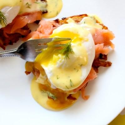 Potato Latkes Eggs Benedict