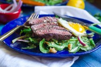 Sumac Steak Salad with Everything Bagel VinaigretteSumac Steak Salad with Everything Bagel Vinaigrette