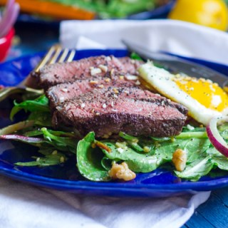 Sumac Steak Salad with Everything Bagel Vinaigrette