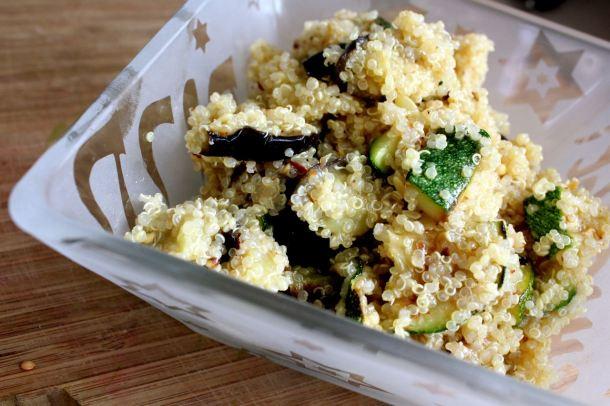 grilled evgetable quinoa salad