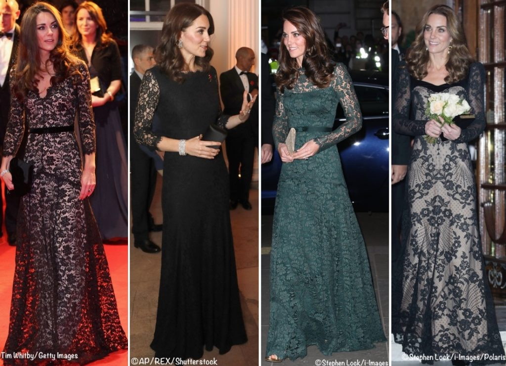 Photo of A Look on the Duchess's Floral-Themed Evening Gowns – What Kate Wore