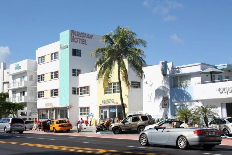 Miami South Beach art deco buildings