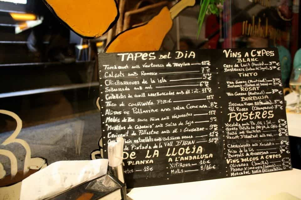 Tapas bar in Barcelona