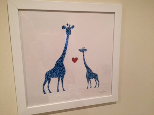 Mother and baby giraffe print from Crafty Foxx
