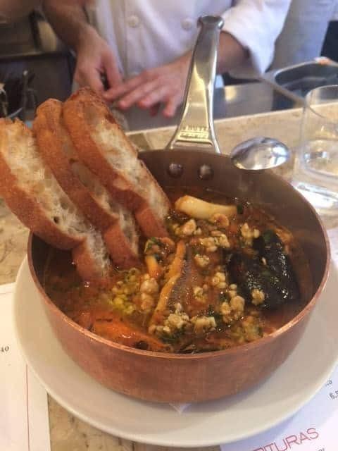 fish stew from Barrafina