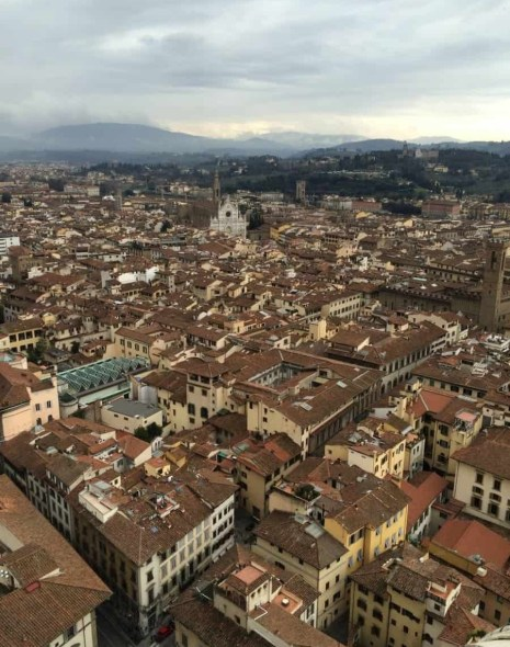 The red rooftops of Florence