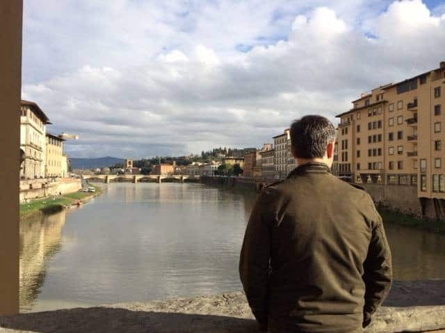 Looking out from Ponte Vecchio