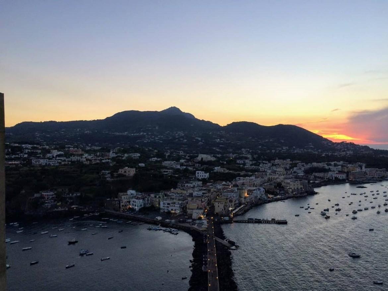 Ischia at sunset