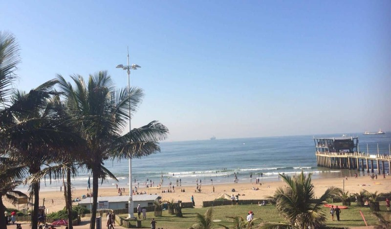 Durban beachfront in South Africa