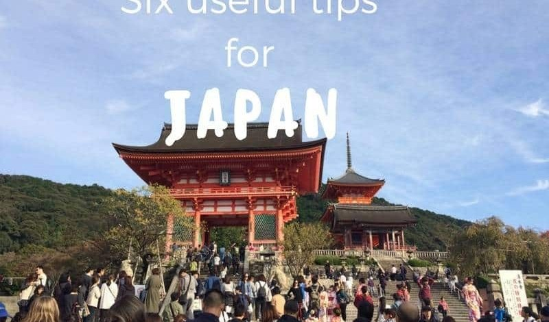 Six useful tips for visiting Japan