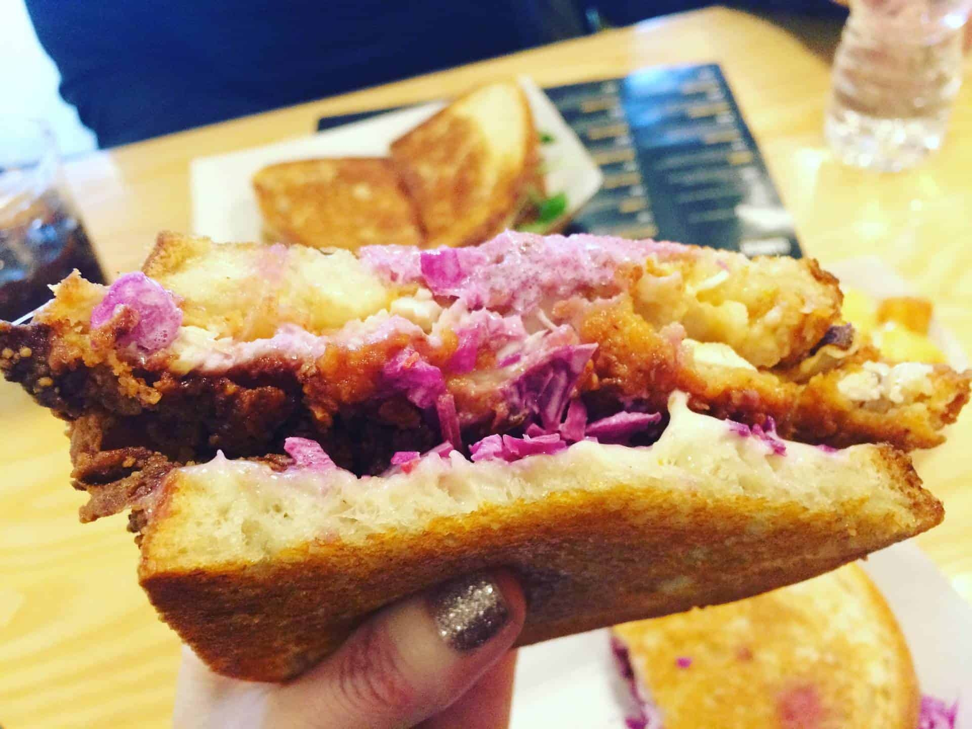 Fried Chicken and slaw sandwich from Melt Shop