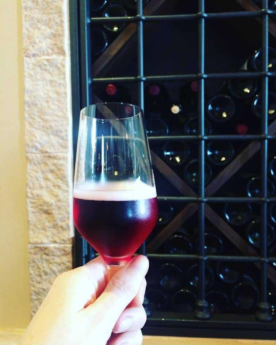 Brachetto in the wine tasting