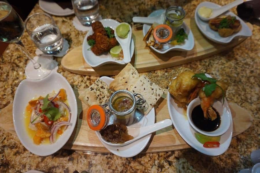 Small plates from the Glass House restaurant