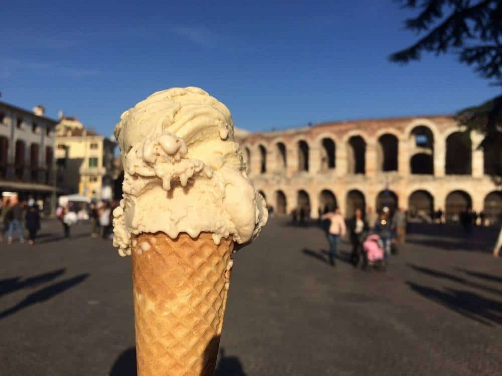 Gelato by the Arena in Verona