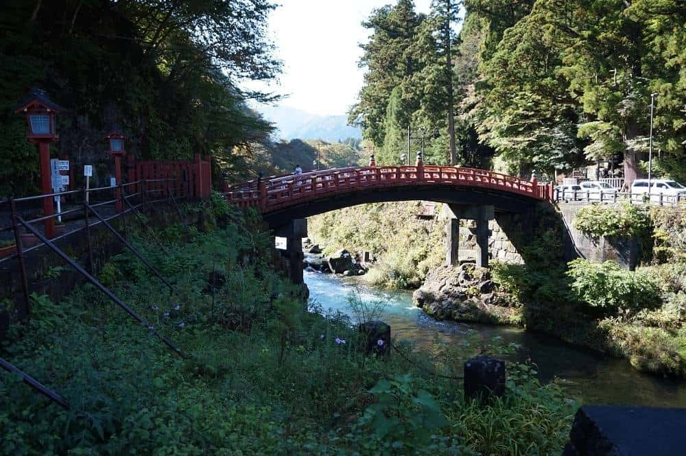 The Shinkyo Bridge in Nikko Japan