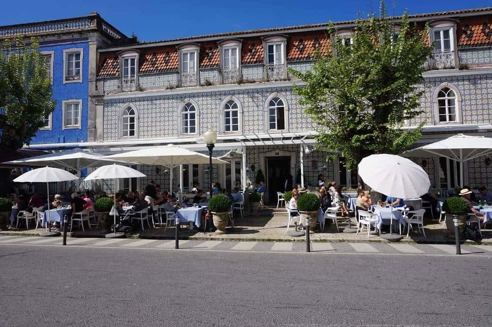 Tiled buildings in Sintra