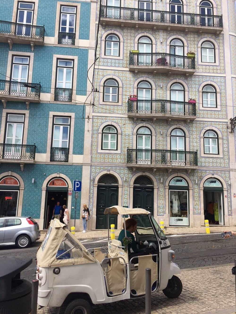 Tuk-tuk in Lisbon