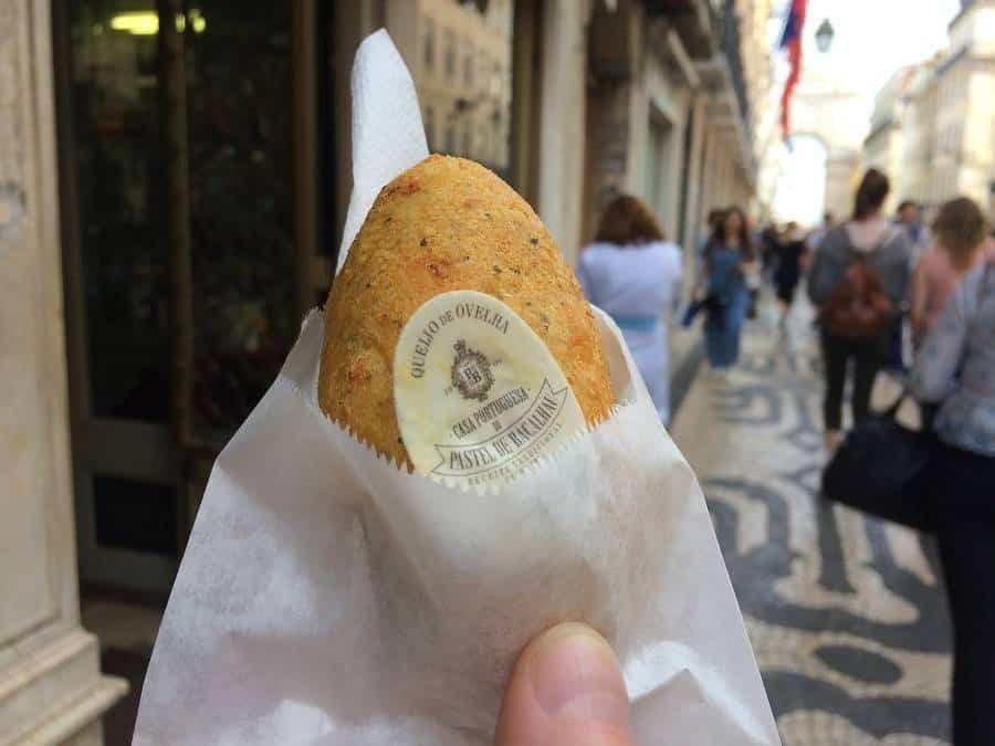 pastel de bacalhau from Lisbon