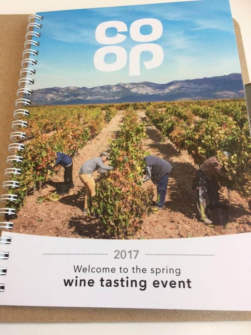 Co-op wine tasting event