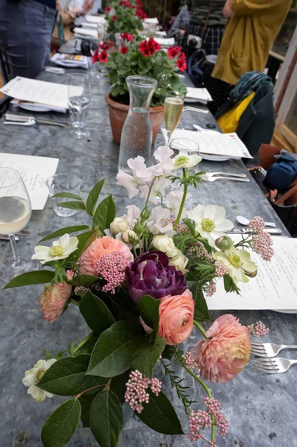 Flower arrangement at Petersham Nurseries