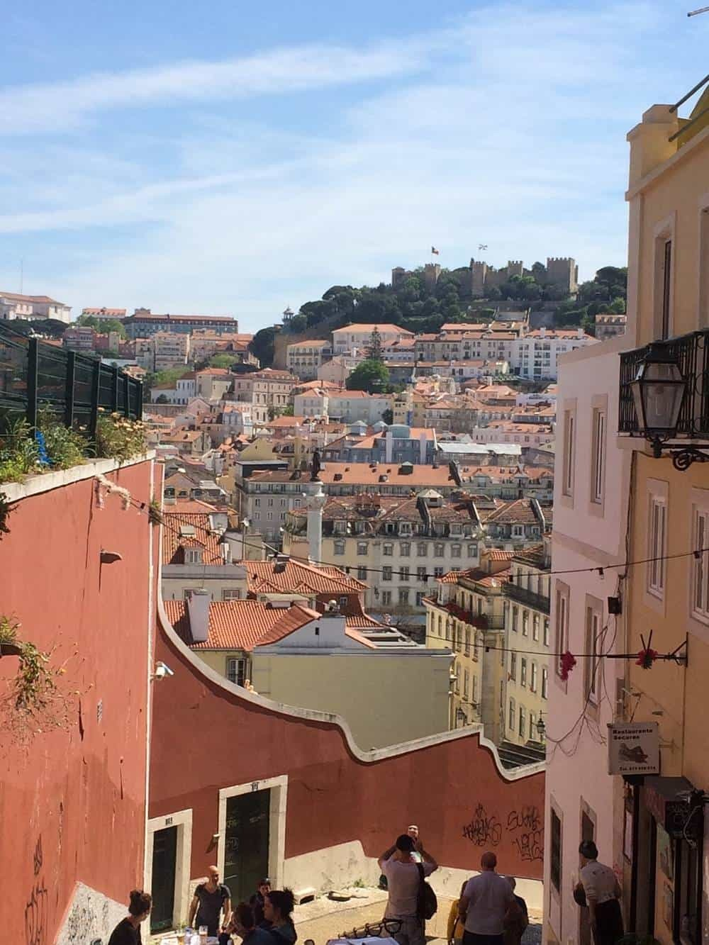 View of the castle in Lisbon