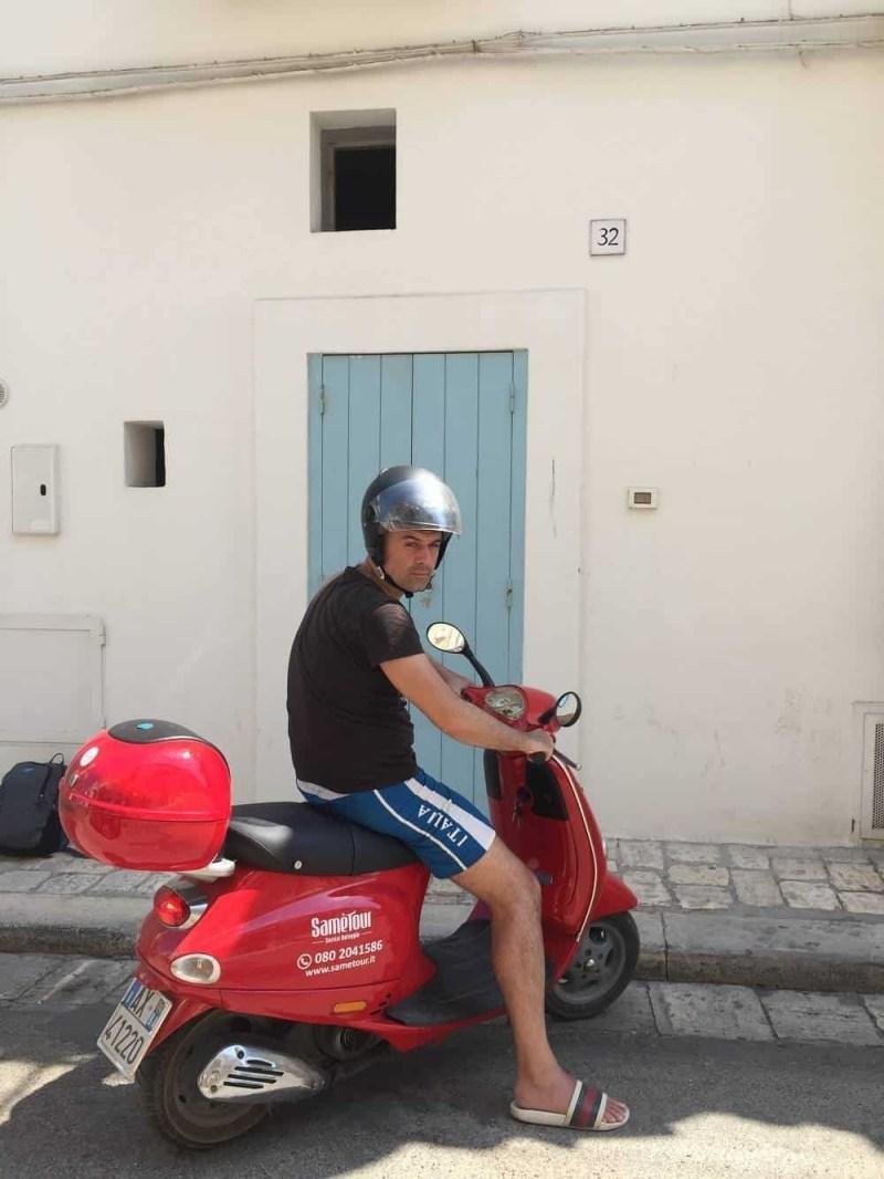 scooter in Polignano