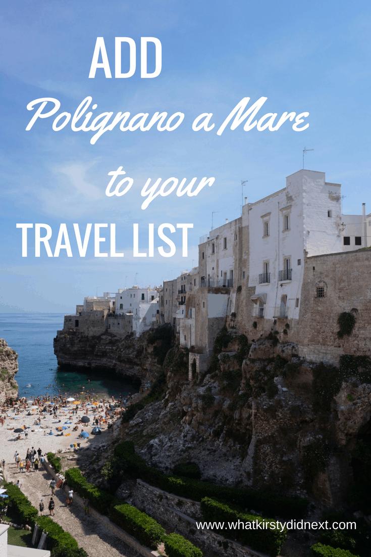 Polignano a Mare in Puglia Italy