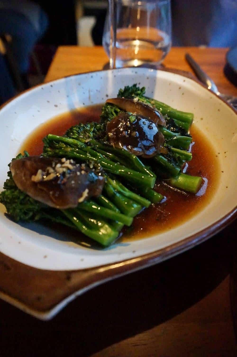 Broccoli with shitake mushrooms from Patara