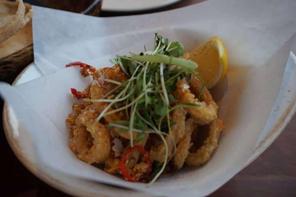 Sea salt calamari from Patara