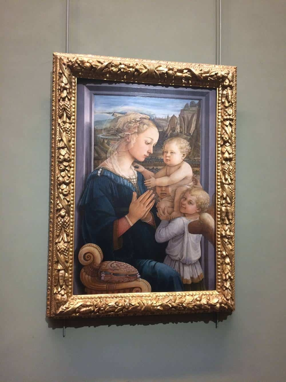 Filippo Lippi's Madonna and child with two angels