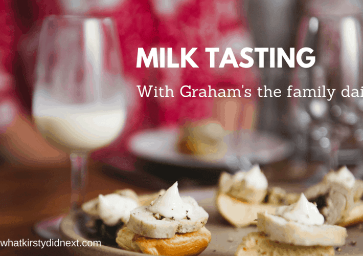 Milk tasting with Graham's the family diary