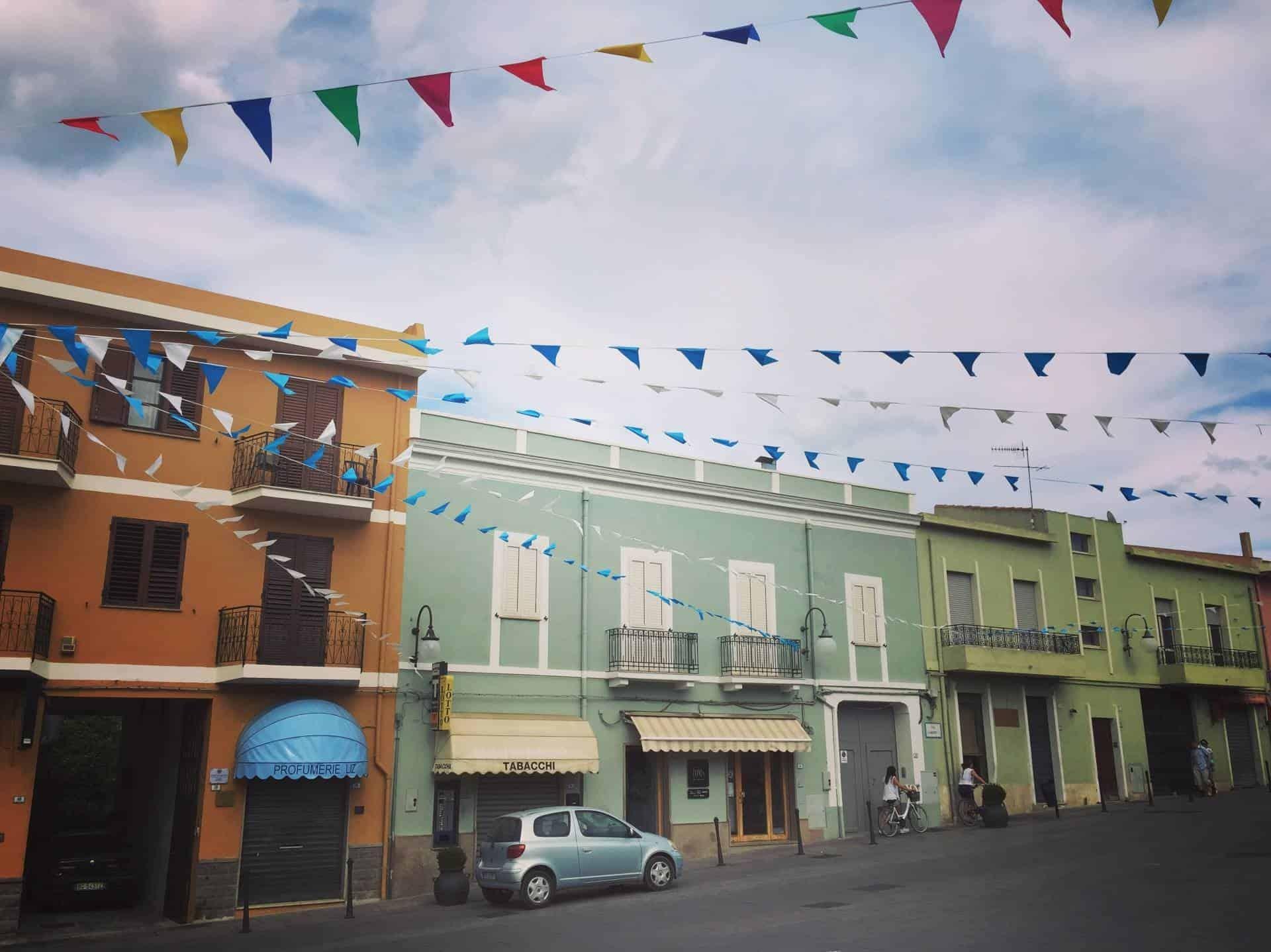 Villasimius town centre