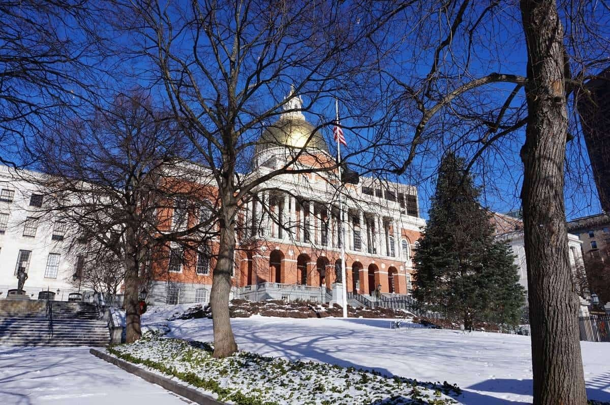 Massachusetts State House on Beacon Street