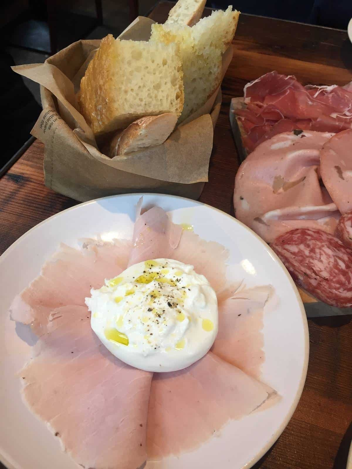 Burrata from Flour and Grape in Bermondsey