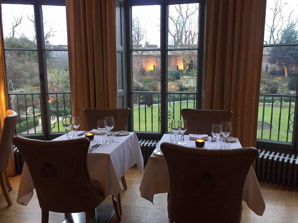Bow Room restaurant at Grays Court hotel