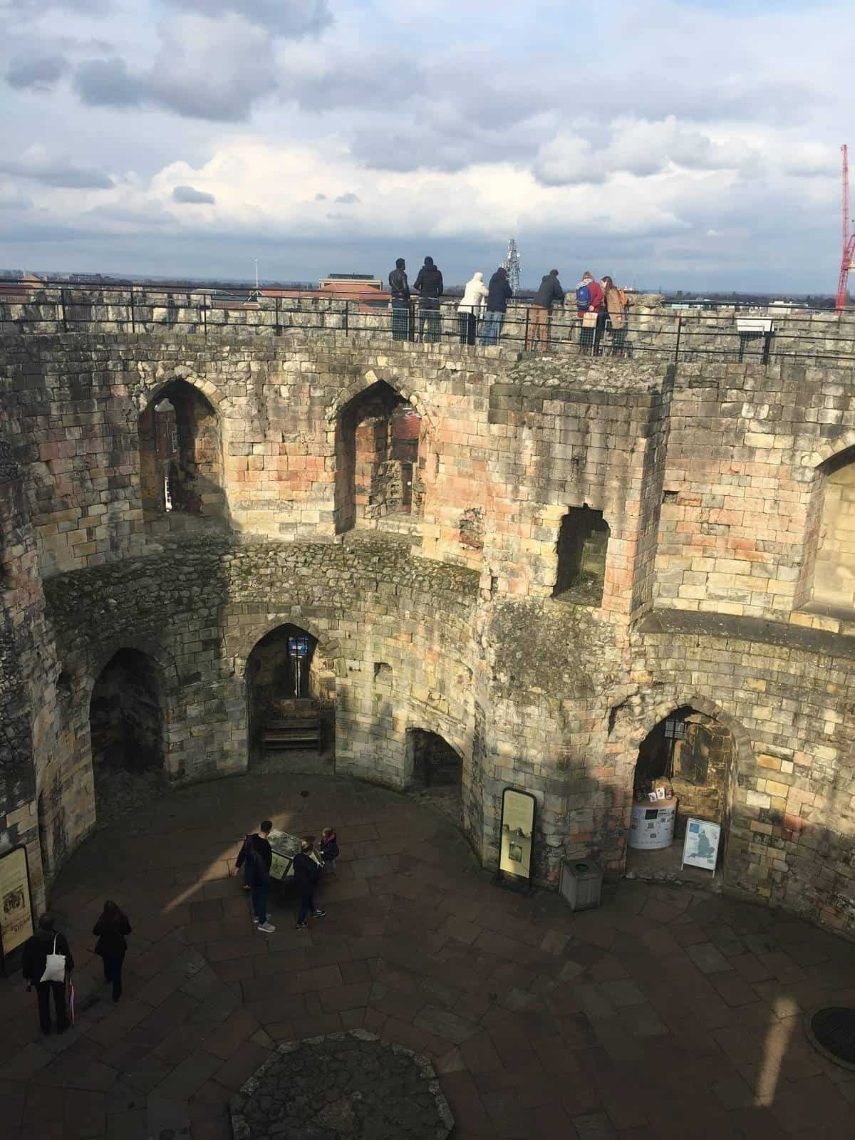 Inside Clifford's Tower in York
