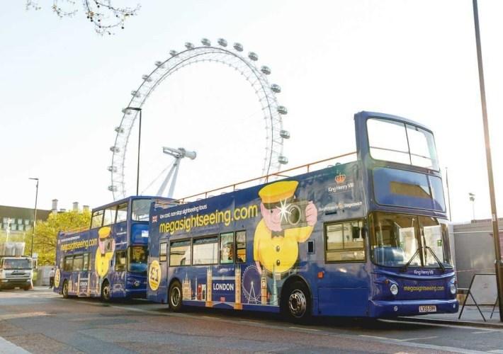 Megasightseeing tour bus