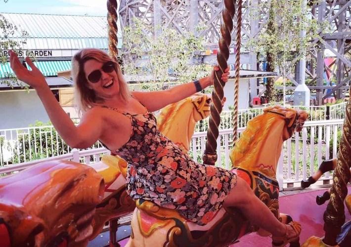 Fun on the carousel