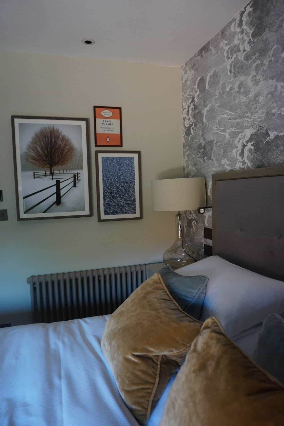 Bedroom decor at Sopwell House